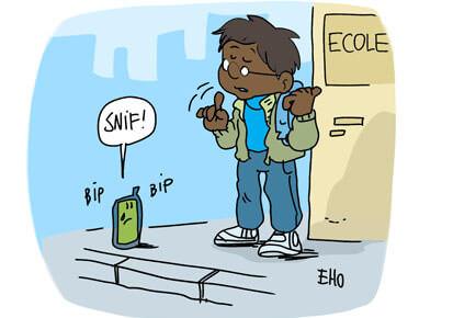 Les portables bientôt interdits à l'école ?