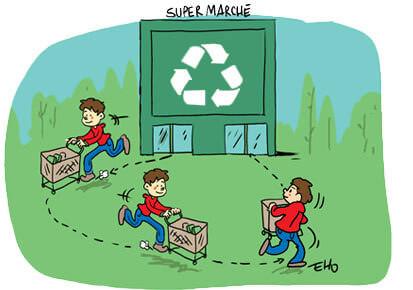 Un centre commercial 100% produits recyclés