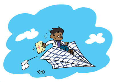 Des avions en papier pour l'aide humanitaire