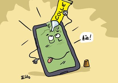Un écran de smartphone qui se répare tout seul !