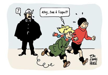 Une expo sur Tintin et Hergé au Grand Palais
