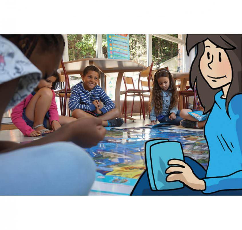 Un puzzle géant pour discuter avec les enfants des problèmes climatiques