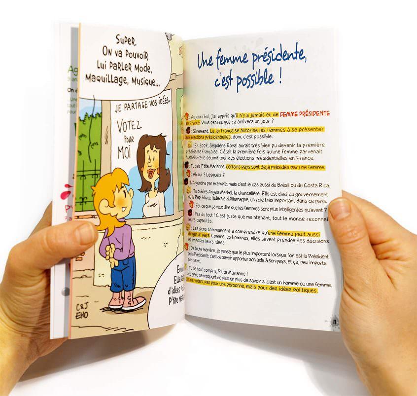 """Découvrez le livret """" Et si on s'parlait de l'égalité Filles-Garçons ?"""""""