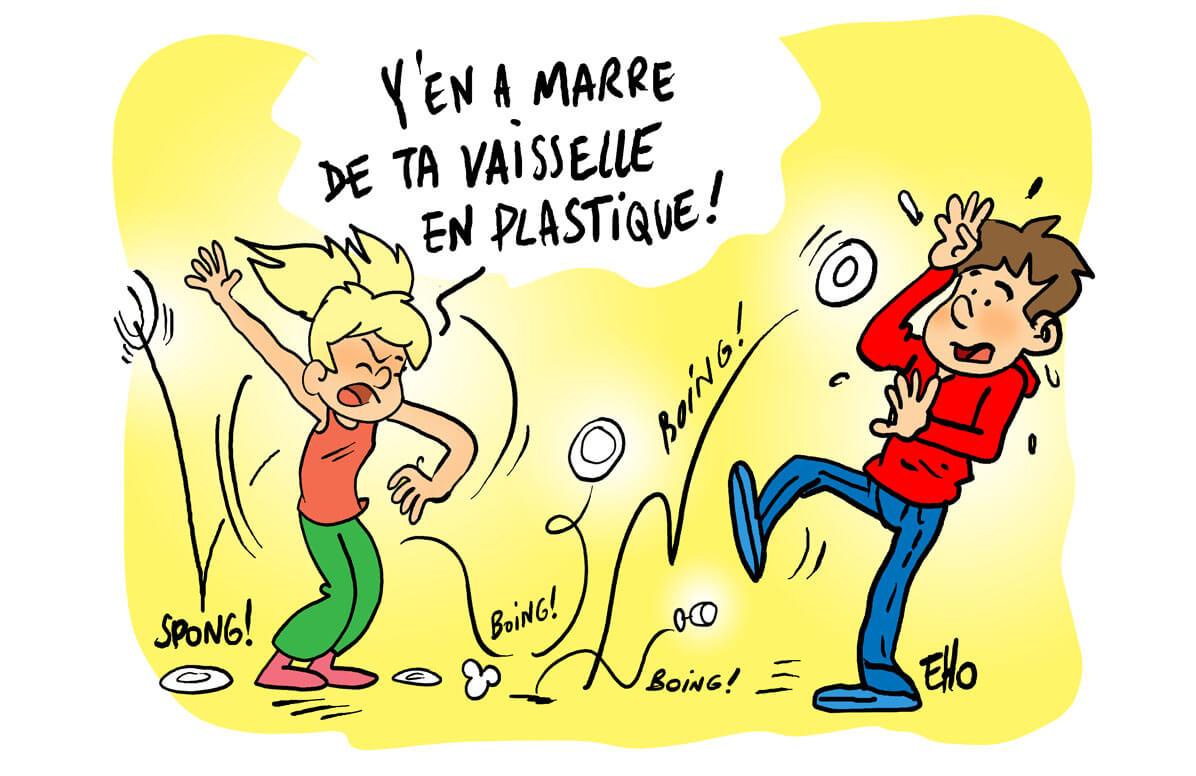 La France, premier pays à bientôt arrêter la vaisselle en plastique