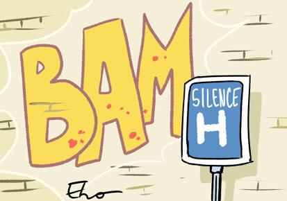 BAM, le graffeur qui dessine sur les murs d'hôpitaux