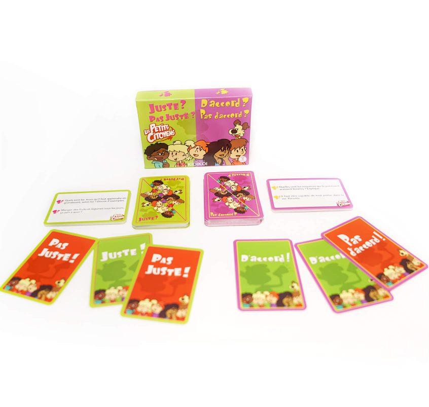 Découvre le double jeu de carte pour débattre en famille ou entre amis