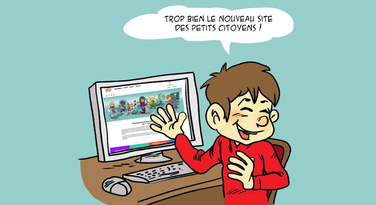 Arthur aime beaucoup le nouveau site internet des petits citoyens