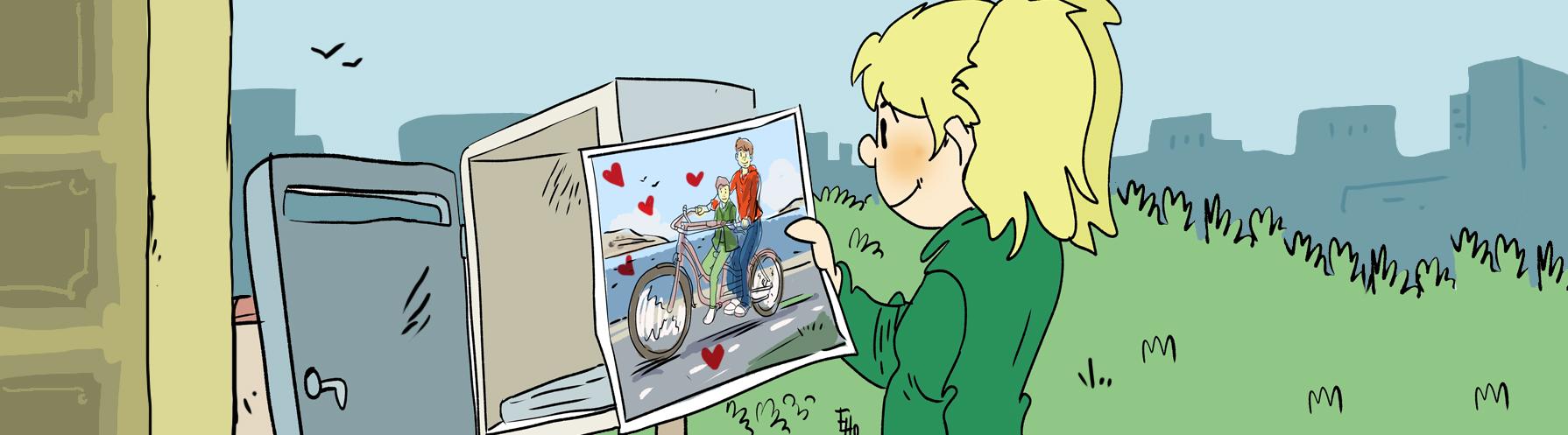 aider les enfants handicapés à faire du vélo