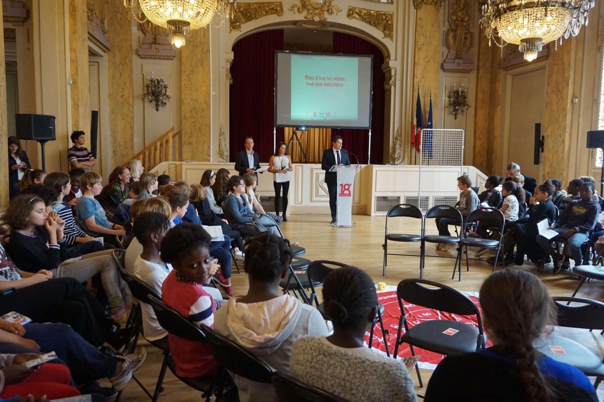 Atelier laïcité dans les écoles du 18e à Paris