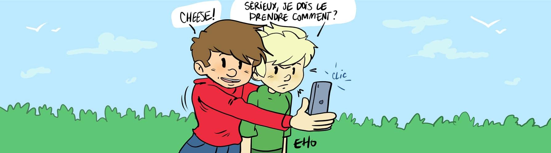 selfies dechets