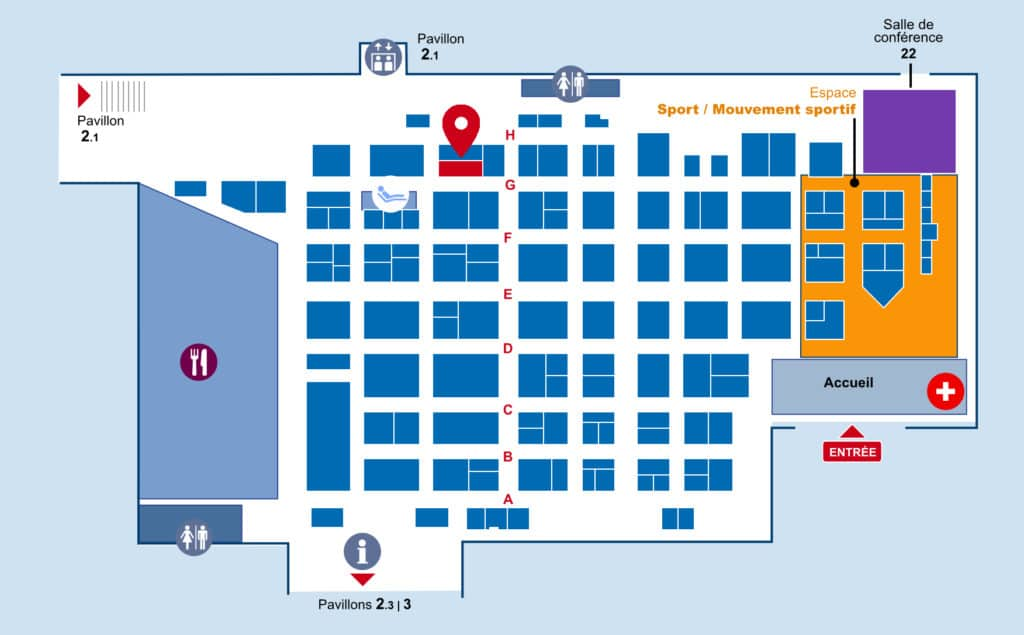 Plan du pavillon 2.2 salon des maires